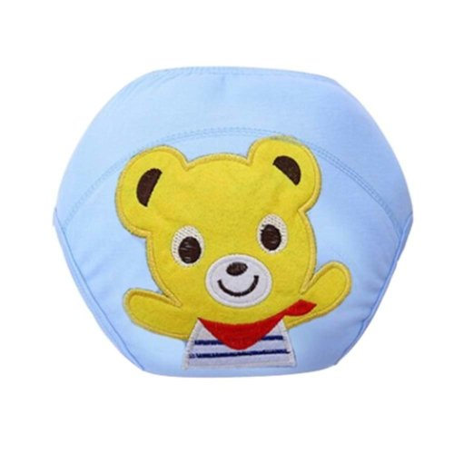 2 PCS Blue Color Bear Pattern Training Pants for Baby Diapers, M