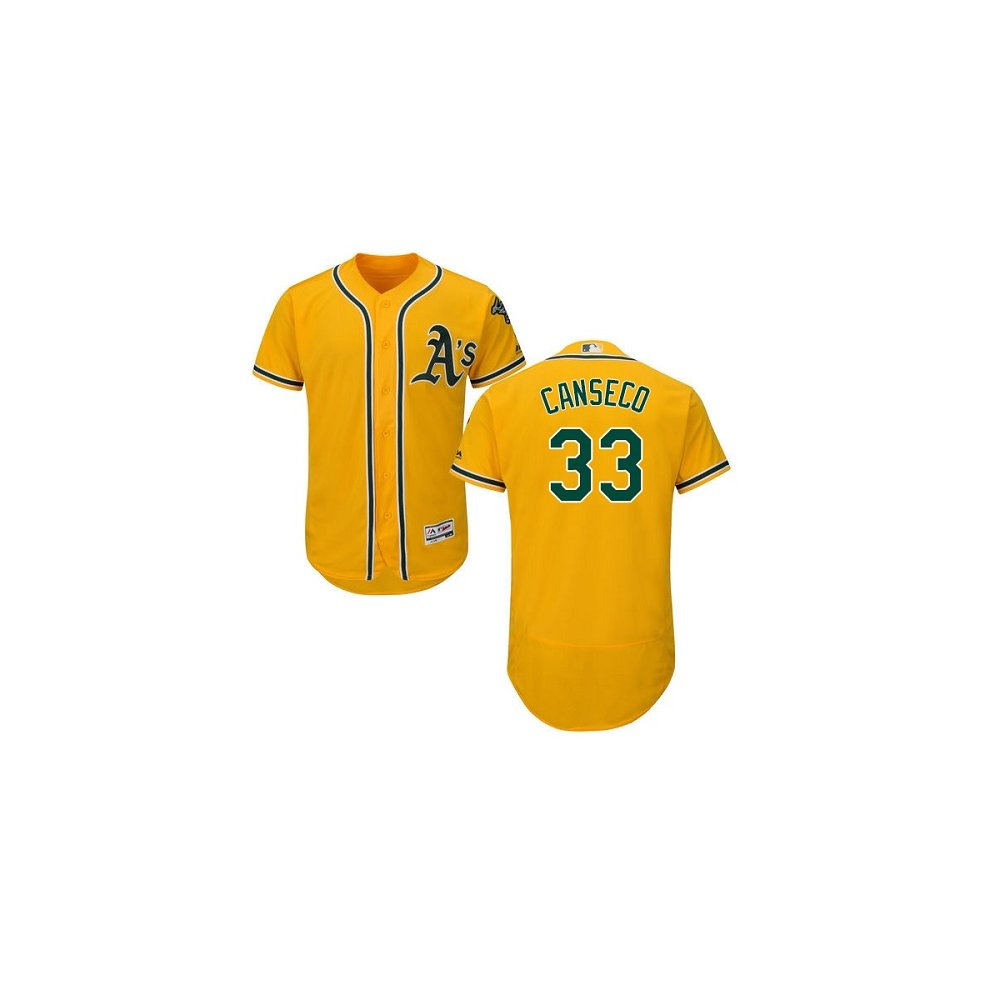 uk availability de0a1 35c99 Oakland Athletics Cool Base MLB Custom Yellow Jersey on OnBuy