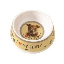 Staffordshire Bull Terrier Dog Bowl