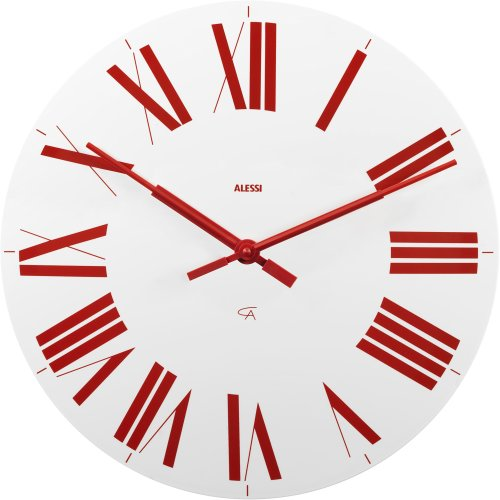 Alessi Firenze Wall Clock, White