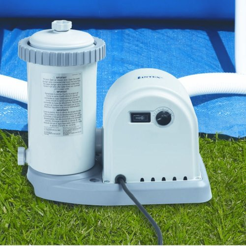 Intex Krystal Clear 1500 GPH Pool Pump - Suitable for large pools. 38mm Hoses