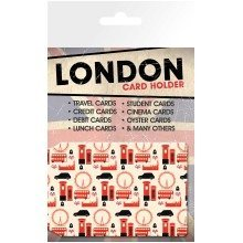 London Pattern Travel Pass Card Holder