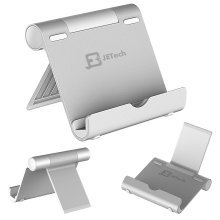 """JETech Multi-Angle Portable Stand for 4 to 10"""" Tablet (iPad and Tab) (Silver)"""