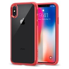 Spigen Ultra Hybrid iPhone XS Case, Air Cushion - Red
