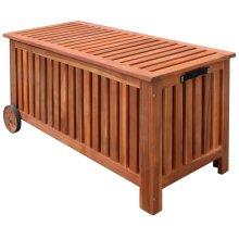 vidaXL Garden Cushion Box Wood 118x52x58 cm