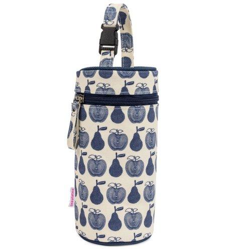 Pink Lining Bottle Holder - Apples & Pears Blue