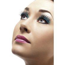 Silver Holographic False Fashion Eyelashes With Glue. -  eyelashes silver holographic fancy dress black ladies glue smiffys false 21112 contains