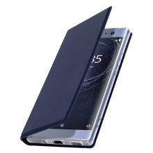 Slim flip wallet case, Business series for Sony Xperia XA2 Ultra – Dark blue