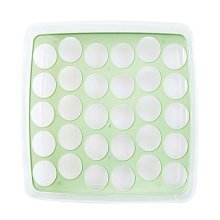 Egg Tray With lid Eggs Store 30 Grid Removable Plastic Save Space Egg Holder,C