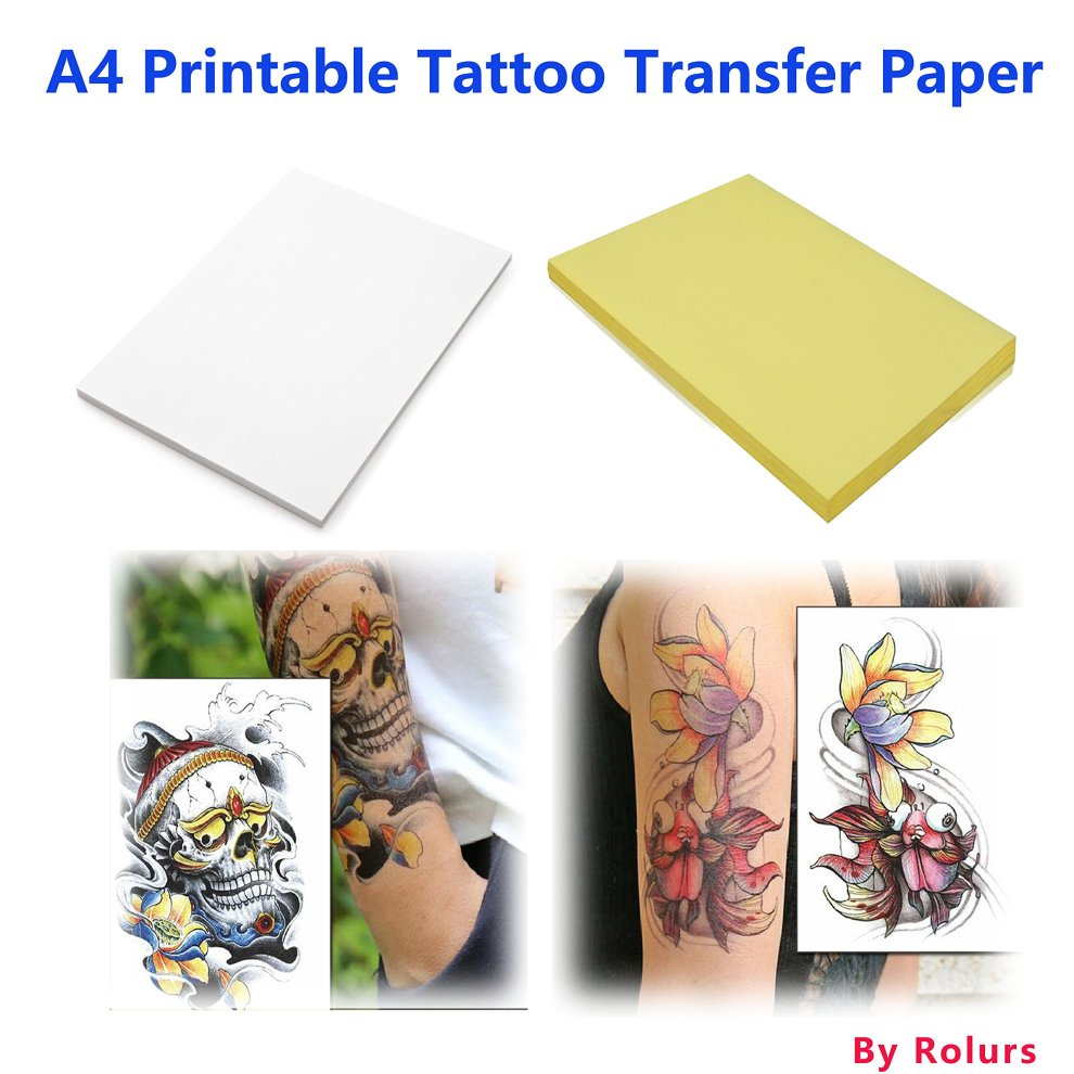image regarding Printable Tattoo Paper titled 10 Sheets Do it yourself A4 Momentary Tattoo Shift Paper Printable Custom-made for Inkjet Printer Halloween Tattoos