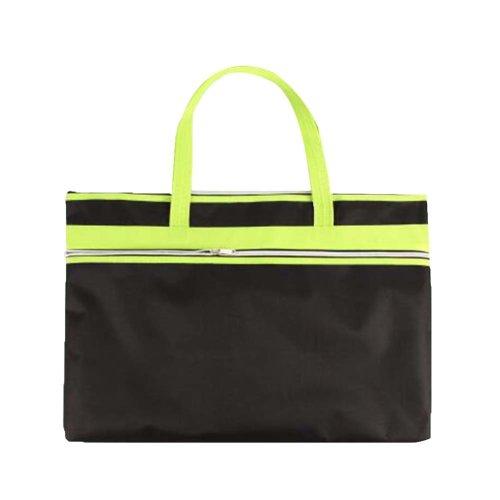 Portable Document Bag Zipper Bag Multi-layered Data Bag Briefcase #1