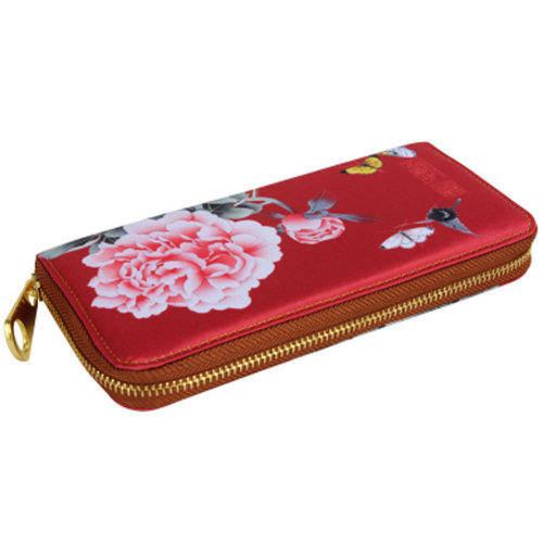 Chinese Style Characteristic Purse Silk Wallet Pouch Bag Perfect Gift, A