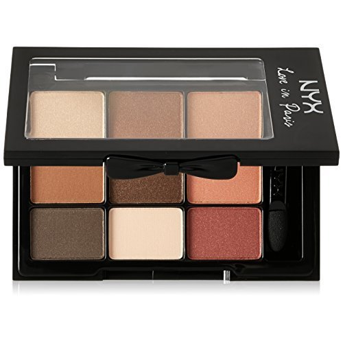 NYX Professional Makeup Love in Paris Eyeshadow Palette, Merci Beaucoup, 0.03 Ounce