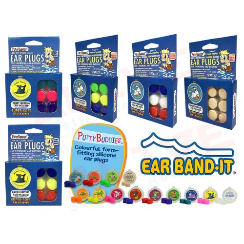 PUTTY BUDDIES Silicone Swimming Ear plugs 3 Pairs