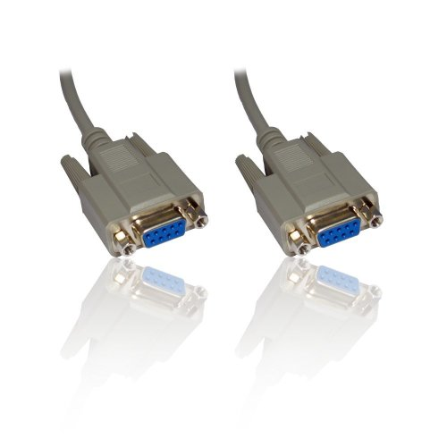 5m 16'ft Null Modem Serial DB9 Female RS232 RS-232 9pin to 9 Pin Cable Lead Wire