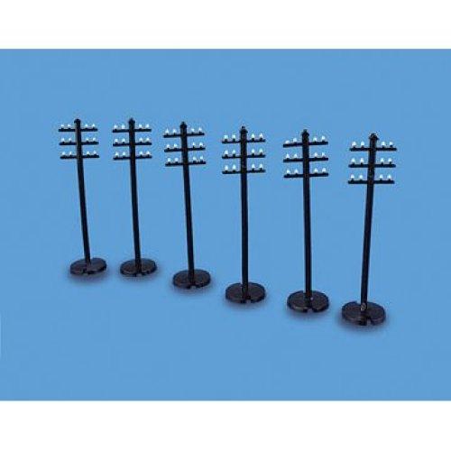 Telegraph Poles - OO/HO Accessories - Model Scene 5080 - free post P3