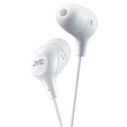 JVC In-Ear Headphones with Excellent Comfort and Secure Hold White (HAFX38W)