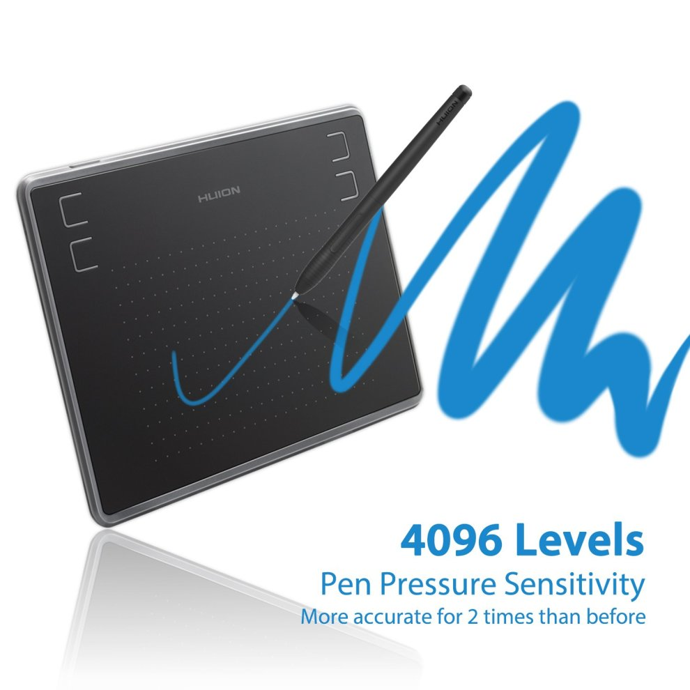 HUION H430P OSU Digital Graphic Tablet with 4096 Levels Pen Pressure for  Mac and Windows