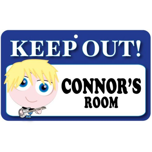 Keep Out Door Sign - Connor's Room