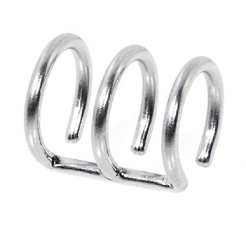 Triple Closure Ring Clip On Fake Tragus or Cartilage Non Piercing Material : Surgical Steel