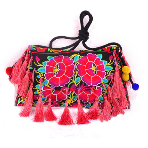 Embroidery Needlecrafts Handmade Embroidery, Tassel bag / Messenger Bag(H)
