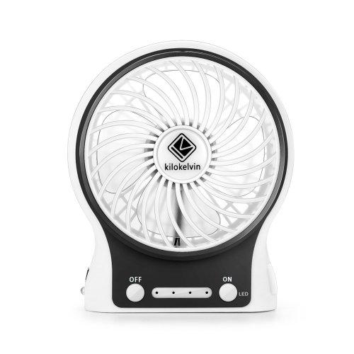 Kilokelvin Portable Quiet Fans Mini Usb Cooling Fan Rechargeable Battery Desktop Desk With 3