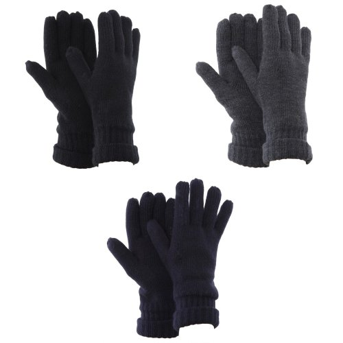 FLOSO Mens Thinsulate Knitted Winter Gloves (3M 40g)