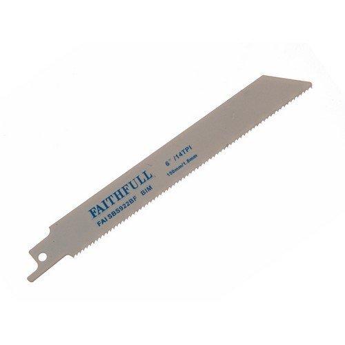 Faithfull FAISBS922BF Bi-Metal Sabre Saw Blade Metal S922BF (Pack of 5)