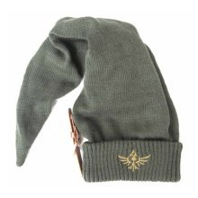Nintendo Legend of Zelda Long Pointed Elvish Hat with Embroidered Royal Crest Logo Unisex Beanie, One Size, Green (Model No. KC060214NTN)
