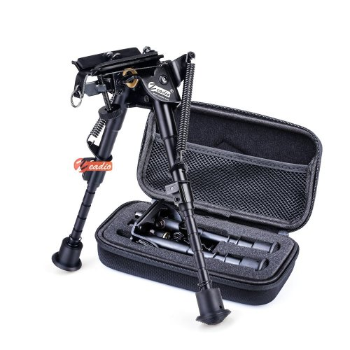 Zeadio 6 - 9 inches Swivel Pivot Tiltable Bipod with Sling Mount and Protective Case