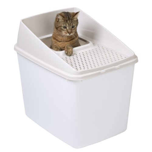Big Box Cat Litter Tray Large Multi Top Entry Removable Lid Spacious