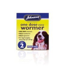 Size 2 One Dose Dogs Easy Wormer - Johnsons Tablets Dog -  johnsons wormer dose one easy tablets 2 size dog dogs
