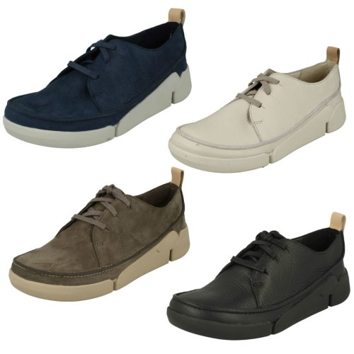 Ladies Clarks Lace Up Casual Trainers Tri Clara - D Fit