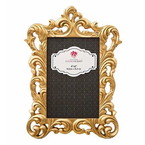 Gold Metallic Baroque Frame - 4 x 6   Gold Baroque Photo Frame