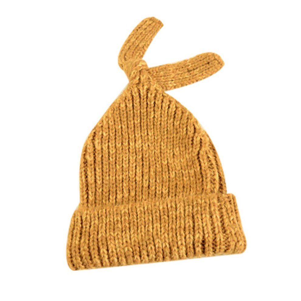 69435c1aea30d9 Yellow Soft Stretch Knit Beanie Warm Winter Hat Wool Hat Fashion Knitted Hat  ...