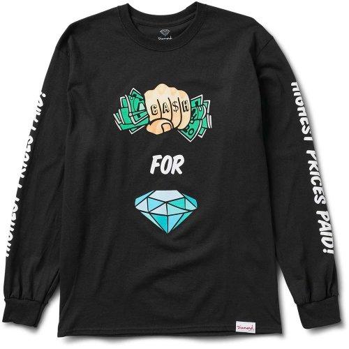 c98c338dd28 Diamond Supply Co Cash In Hand Long Sleeve T-shirt Black on OnBuy