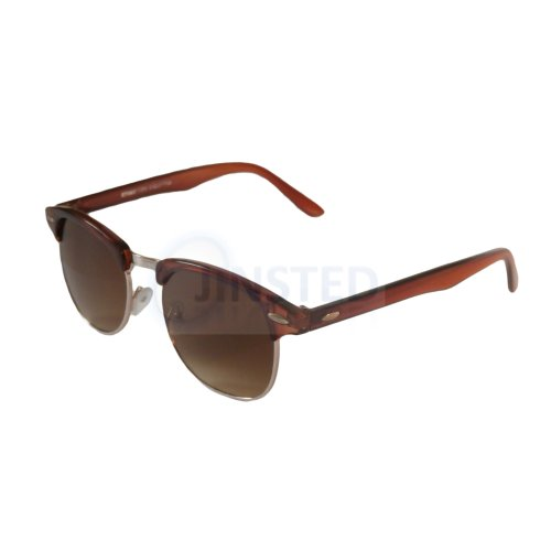 Adult Brown Frame Clubmaster Sunglasses Tinted Lens AR009