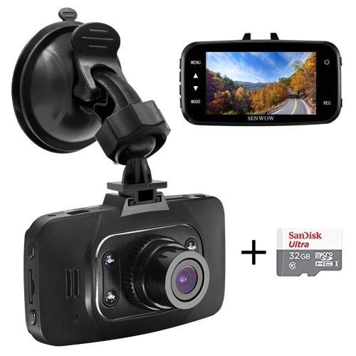 "Senwow Dash Cam (32GB Card Included) 1080P Full HD Car Camera 2.7"" LCD"