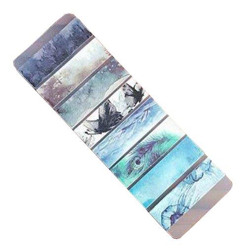 Set of 2 Washi Masking Tapes Decorative Washi Tapes for Craft Feather