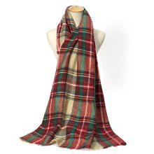 Tartan Plaid Square Scarves For Women
