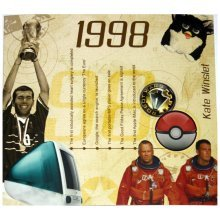 20th China Wedding Anniversary gift ~ Hit Music of 1998 CD and Greeting Card