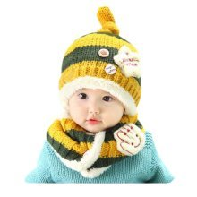 Baby Winter Hat&Scarf Warm and Lovely Baby Cap&Scarf, Style 9