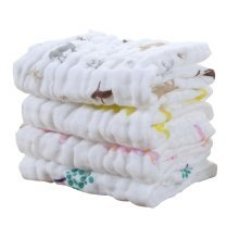 High Quality 6 Layers Baby Gauze Baby Towels Set of 4