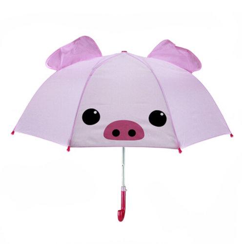 Childrens  Rainy Day Umbrella /Bright colors/Kids Umbrella?cute pig