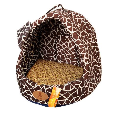 [Gravel Grain]Soft Dog Cat Pet House & Mat,Cat Mongolian Yurts(40*35*35CM)