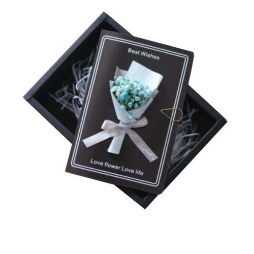 Thank You Cards With Gift Boxes And Gift Bag Real Pressed Dried Flowers