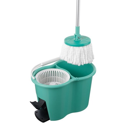 CLEANmaxx 05549 Universal Cleaning Bucket with Microfibre Mop | Mop and Bucket Set| Cleaning Bowl | Wring and Clean