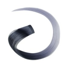 2 Pieces Of Fashionable Invisible Hair Extension Wig Piece, Black And Grey