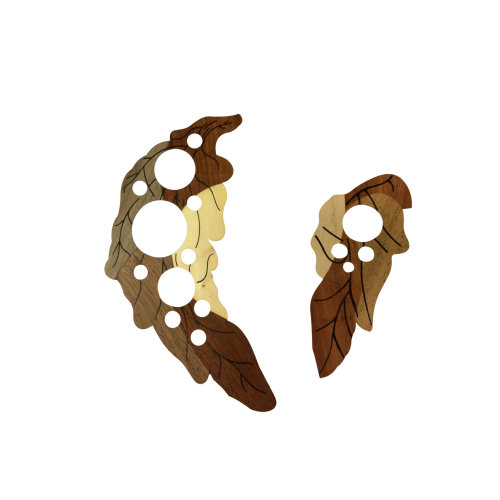 Wooden Leaves Pickguard Scratch Plate for Acoustic Guitar left and right sides.