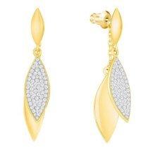 Swarovski Grape Long Pierced Earrings - White - 5264814